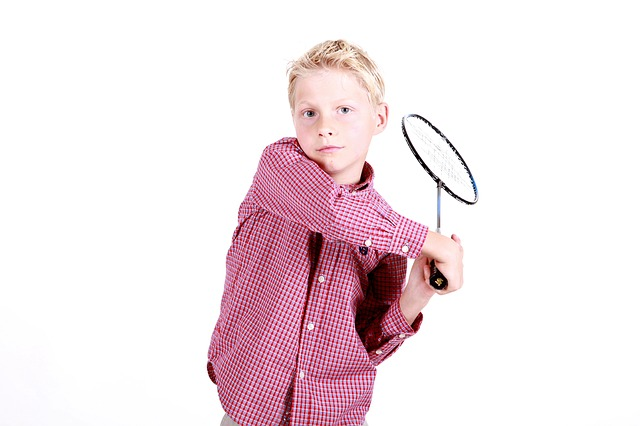 Boy, Badminton, Portrait, Play, Young, Sport, Child