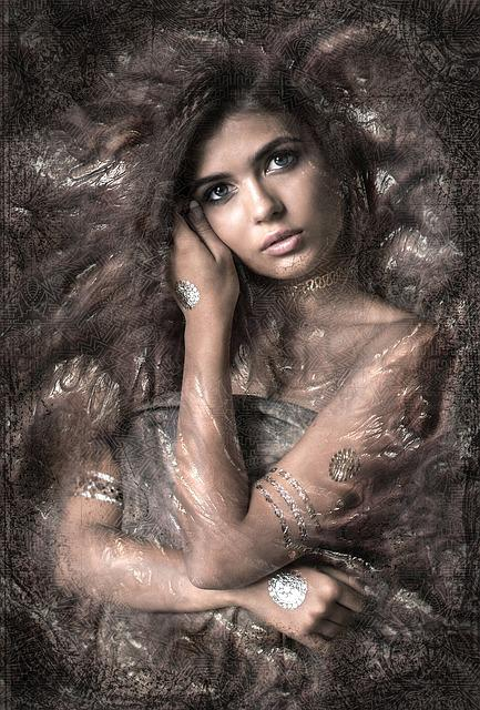 Portrait, Woman, Pretty, Composing, Fantasy, Structure