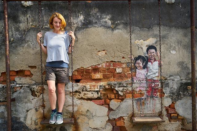 Women's, Child, Swing, Portrait, Pretty Girl, People