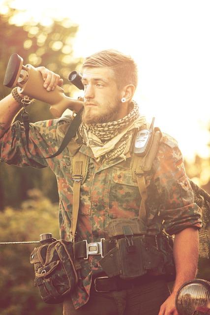 Warrior, Weapon, Air, Soft, Bundeswehr, Man, Portrait