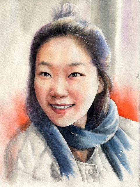Watercolor, Watercolor Portrait, Portraits