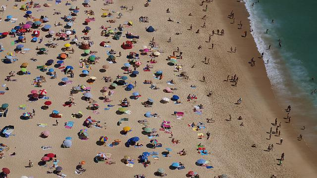 Beach, Sand, Sea, Holiday, Summer, Colors, Portugal