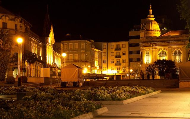 Braga, Portugal, Night