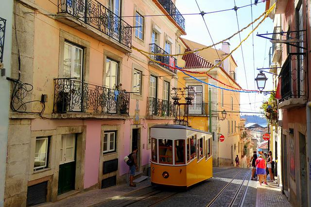 Lisbon, Colorful, Town Center, Portugal, Metropolis