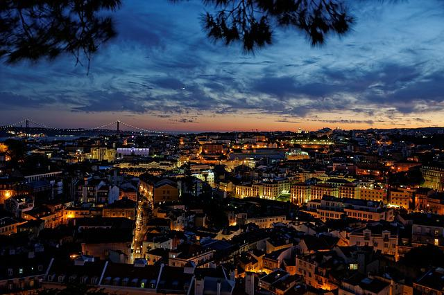 Lisbon, Portugal, Old Town, Night, Historically, City