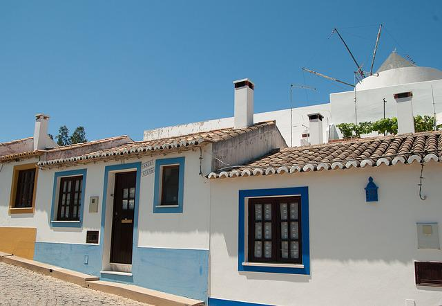 Portugal, Village, Mill, Tiles, Lane