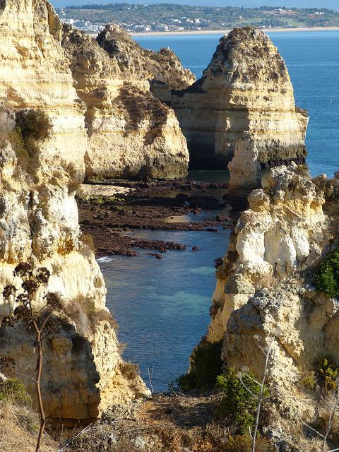 Algarve, Rocky Coast, Portugal, Sea, Nature, Rock