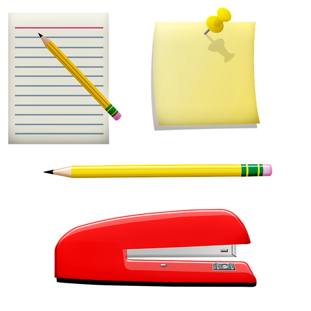 Post Its, Message Paper, Stapler, Pencils, Pins, Memo