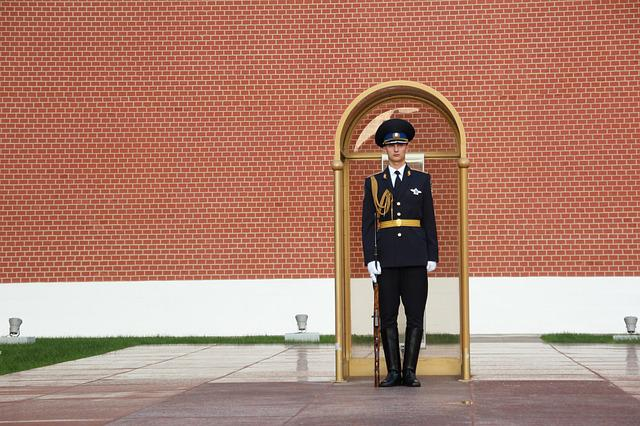 Security Guard, Post, Kremlin, Officer, Sentry