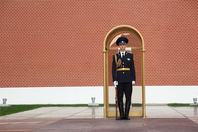 Security Guard, Post, Kremlin, Officer, Sentry