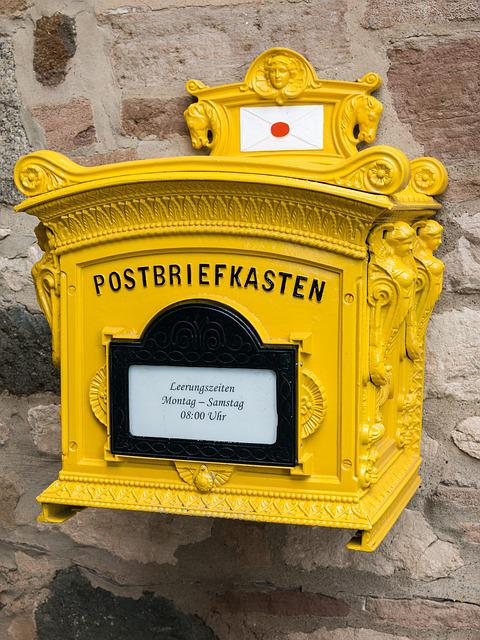 Mailbox, Post, Letter Boxes, Postbox, Letters, Yellow