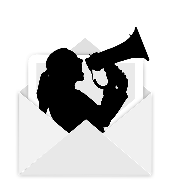 Envelope, Megaphone, Woman, Scream, Barker, Post