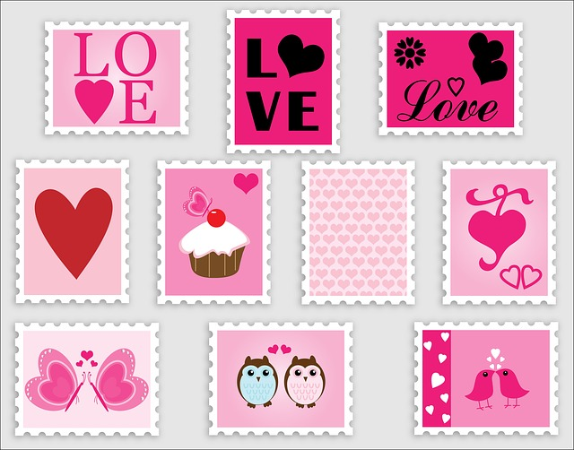 Love, Romance, Stamps, Postage, Postage Stamps