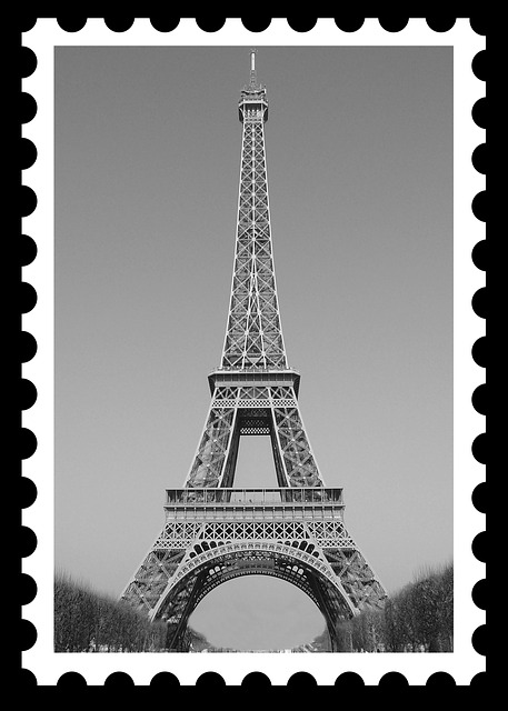 Eiffel Tower, Postage, Postage Stamp, Eiffel, Paris