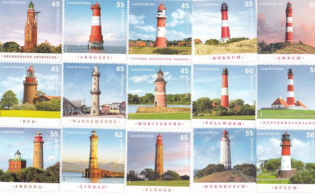 Postage Stamps, Lighthouse, Collect