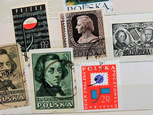 Fryderyk Chopin, Postage Stamps, Paper, Antique, Stamp