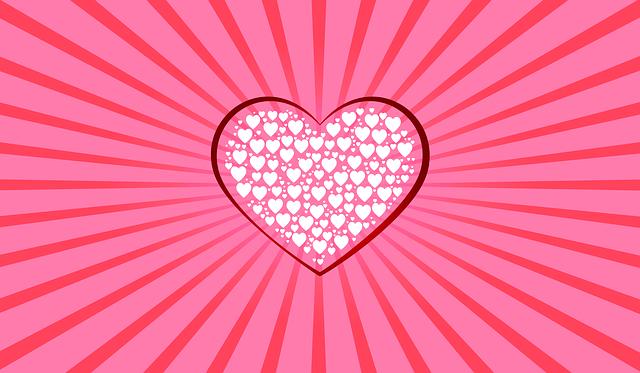 Heart, Pink Background, Hearts, Banner, Postcard
