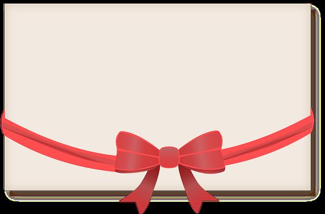 Banner, Ribbon, Present, Postcard, Card, Greeting
