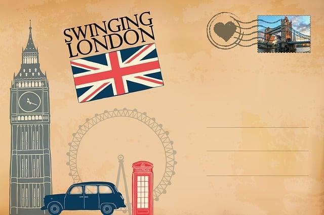 Postcard, London, Big Ben, Phone Booth, Vintage, Old