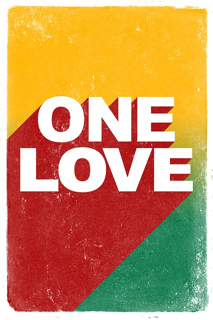 Poster, Quote, Reggae, Rasta, One Love, Bob Marley