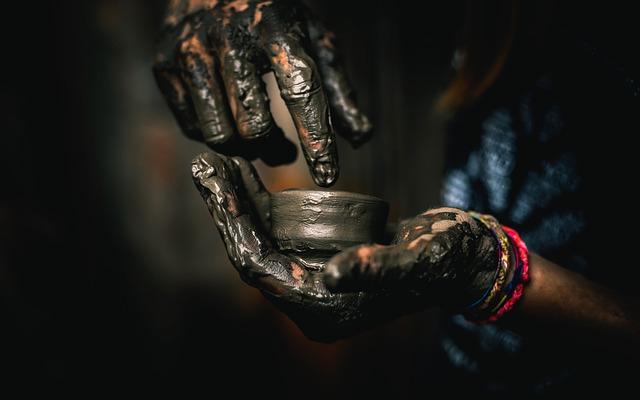 Hand, Pot, Pottery, Mud
