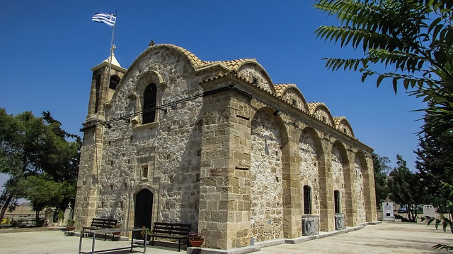 Cyprus, Potamia, Church, Orthodox, Architecture
