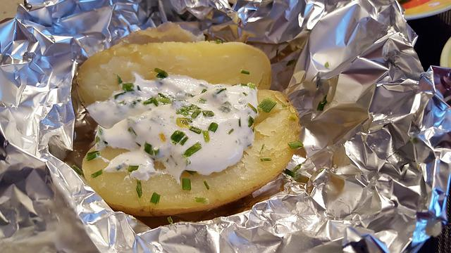 Baked Potatoes, Potato Dish, Aluminum Foil