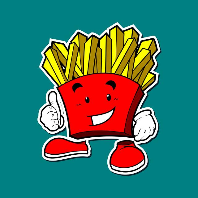 Mascot, Icon, Potato, French Fries, Smile, Thumb