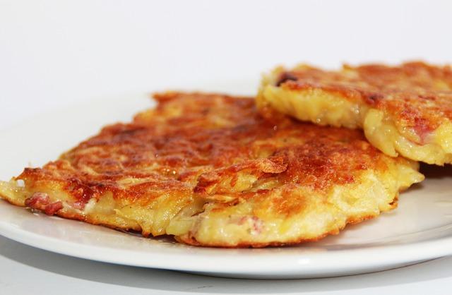 Potato Fritter, Kartoffelpuffer, Potato, Flour, Egg