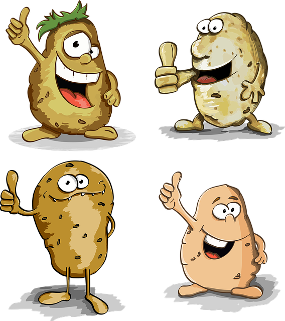 Potato, Thumbs Up, Potatoes, Character, Cartoon, Cute