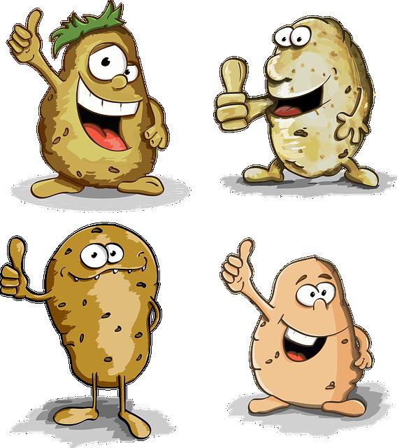 Potato, Thumbs Up, Potatoes, Character, Cartoon, Cute
