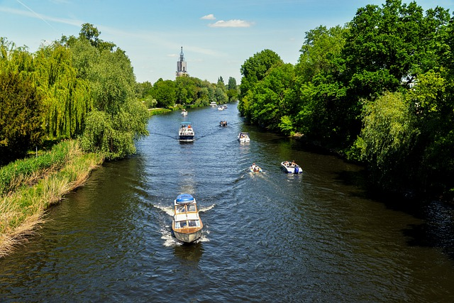 River, Landscape, Boats, Vacations, Potsdam, Water