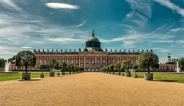 Architecture, Panorama, Sky, New Palais, Potsdam