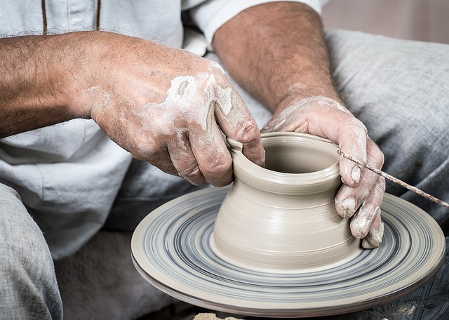 Potter, Ceramics, Clay, Circle, Potter's Wheel, Hands
