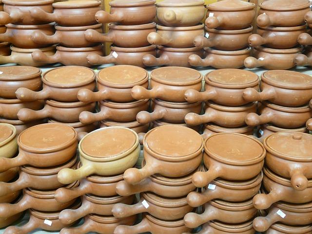 Fondue, Pots, Pans, Pottery, Fragile, Earthen Material