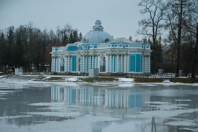 Russia, Saint Petersbourg, Pouchkine, Lake