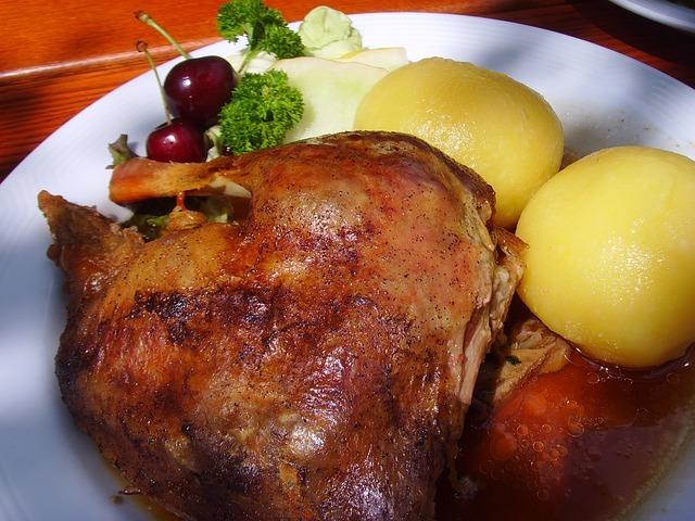 Roast Goose, Dumplings, Eat, Fry, Poultry Roast