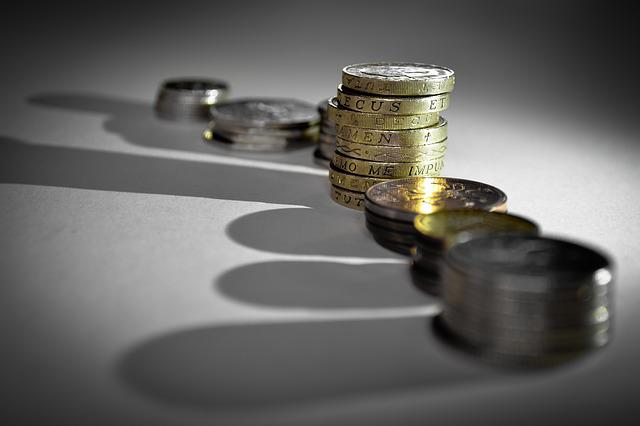 Cash, Coins, Pounds, Money, Finance, Currency, Shadow