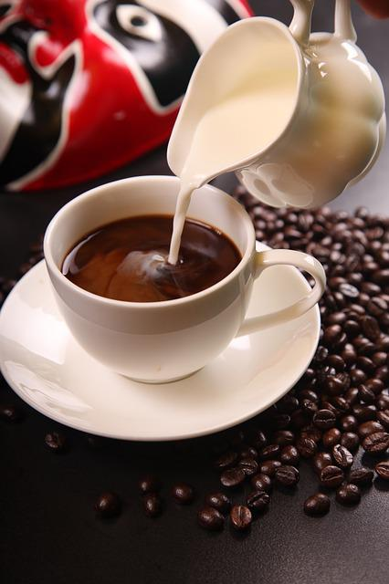 Coffee, Milk, Coffee Beans, Cup Of Coffee, Pourring