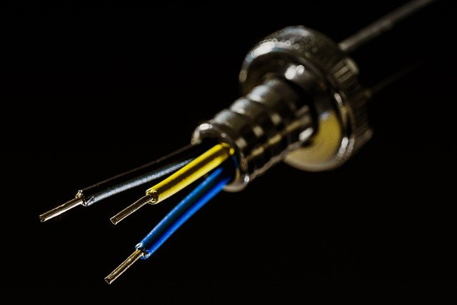 Hose Coupling, Power Cable, Strange, Black, Blue