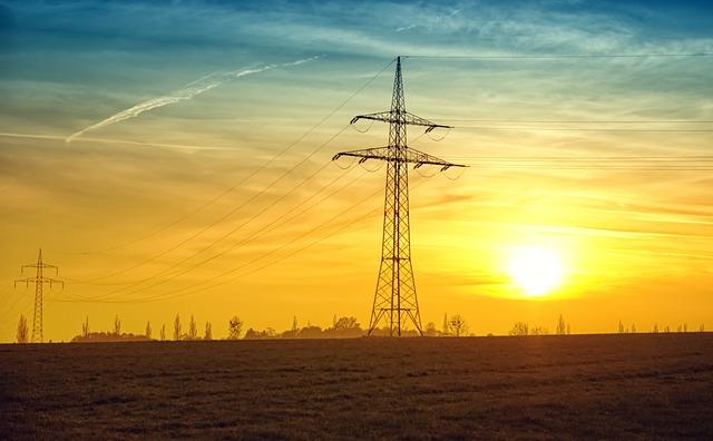 Twilight, Power Lines, Evening, Evening Sun, Sun