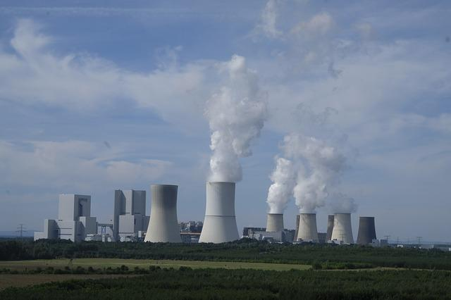 Industry, Power Plant, Nuclear Power Plant, Chimney