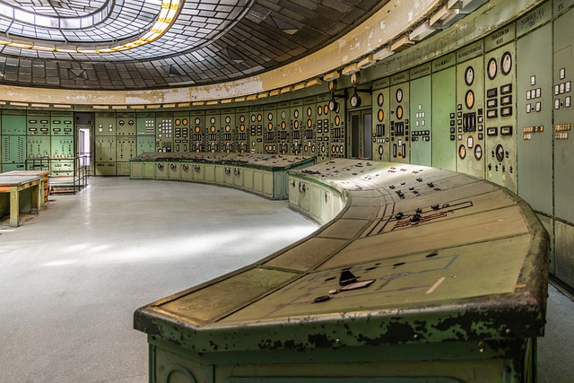 Power Plant, Control Room, Electric, Old, Instruments