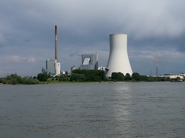 Duisburg, Walsum, Rhine, Water, River, Power Plant