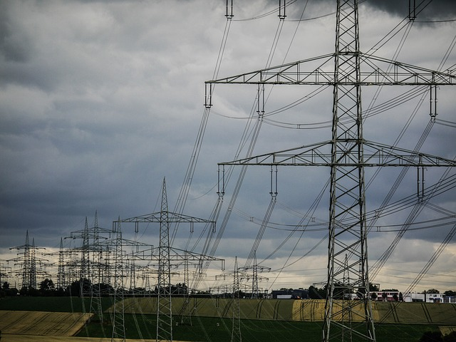 Energy, Power Poles, Thunderstorm, Electricity