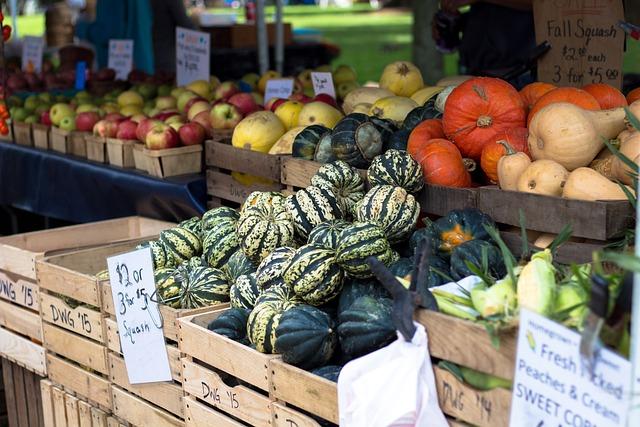 Farmers Market, Squash, Pr, Vegetable, Produce, Harvest