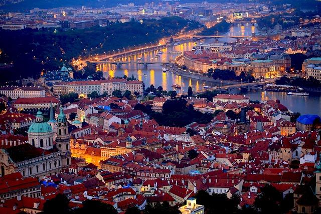 Prague Night, Czech, Central Europe