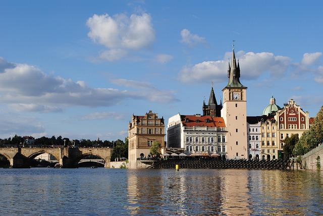 Czech Republic, Prague, Old Town, Bridge, Pedal Boat