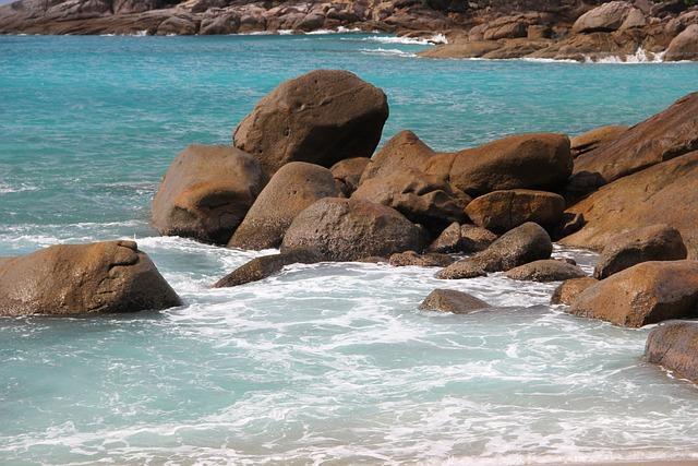 Beach, Seychelles, Water, Sea, Stones, Rock, Praslin