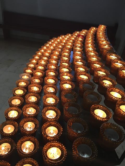 Candles, Church, Light, Prayer, Tea Lights, Faith